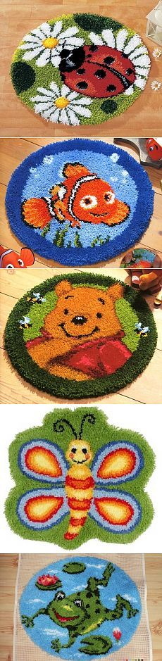 Tapete artesanal Crochet Cow, Latch Hook Rugs, Art Projects For Teens, Rug Hooking, Loom Knitting, Handmade Rugs, Rugs On Carpet, Embroidery Stitches, Crochet Projects