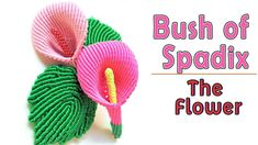 Macrame tutorial - Bush of spadix part 1 - The flower - Hướng dẫn thắ. Macrame Purse, Macrame Necklace, Macrame Jewelry, Macrame Bracelets, Loom Bracelets, Friendship Bracelets, Macrame Design, Macrame Art, Macrame Projects