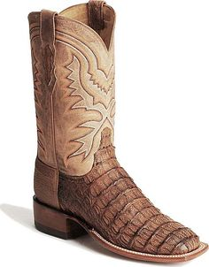 bb68c10f7920 Handcrafted Lucchese 2000 Hornback Caiman Western Boots Western Boots