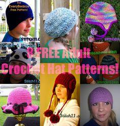 7 Free Adult Crochet Hat Patterns - Free Crochet Patterns - (stitch11)