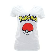 fdd501e38 Pokemon – Women's Pokemon Pokeball V-Neck T-Shirt – White – Pokemon Tshirt  & Dress for Women