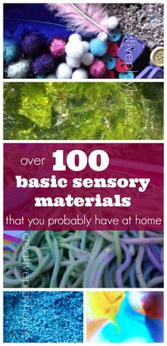 Over 100 Basic Sensory Materials You Probably Have at Home #SuliaMoms