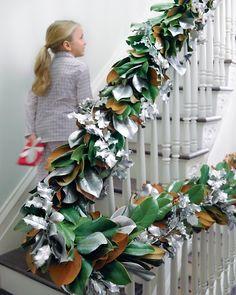 DIY:: Magnolia Garland via Martha Stewart