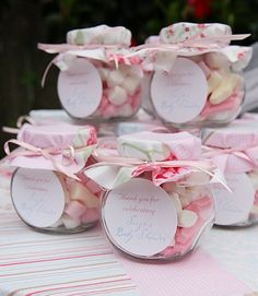 8 Whole Clever Tips: Shabby Chic Baby Shower Theme shabby chic rustic party.Modern Shabby Chic Office shabby chic salon all white. Shabby Chic Theme, Shabby Chic Baby Shower, Baby Shower Niño Manualidades, Baby Shower Cupcakes, Baby Shower Favors, Baby Shower Elegante, Lolly Jars, Baby Shower Souvenirs, Baby Boy Shower