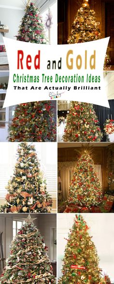 Red and Gold Christmas tree decoration ideas that are actually brilliant for home decor. #christmastree #redandgold #decor