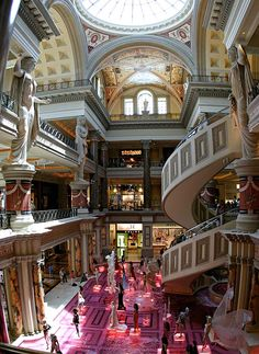 Caesar's Palace, Las Vegas. Definitely not my favorite place in the world, but the spiral escalators deserved a repin.
