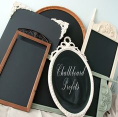 Salvaged Inspirations   Here's how I turn an inexpensive Thrift Store mirror into a Chalkboard Profit!