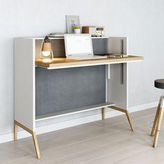 der moderne und schmale sekret r in wei oder schwarz ist der ideal schreibtisch er kann im. Black Bedroom Furniture Sets. Home Design Ideas