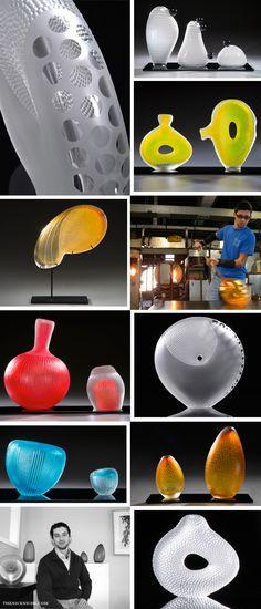 #AdamWaimon #Glass #Sculptor #GlassArt #Visual #Organic #Art #Inspiration #creative