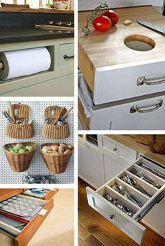 Kitchen Ideas – Custom Built-In Kitchen Storage Ideas