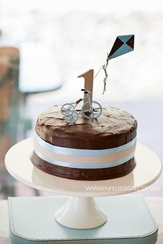 Asher's 1st bday?  love this cake. simple and sweet.