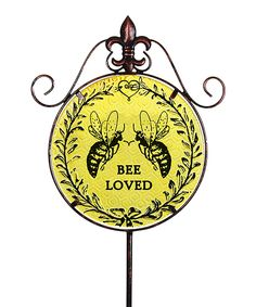 Another great find on #zulily! 'Bee Loved' Garden Stake by Exhart #zulilyfinds