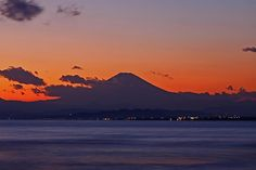 Twilight Mt.Fuji Enoshima Beach #japan