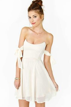 For Love & Lemons Kiss Me Dress - Ivory from NASTY GAL