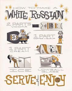 The Big Lebowski - How to make a white russian