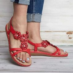 138fcaa50904c6 Summer Flowers Women s Slip-On Sandals Beach Shoes