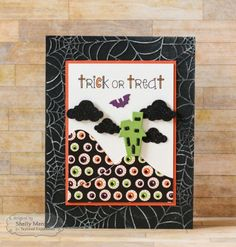 Trick or Treat Car by Shelly Mercado #Cardmaking, #Halloween, #LittleBitsDies