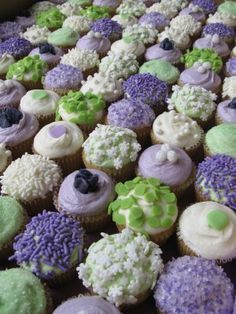 This was the colour scheme for my wedding. My bridesmaids wore lilac dresses and my flower girls wore sage. We matched the colors to a tie that belonged to my husband's grandfather. mint, sage, and lavendar cupcakes - Google Search