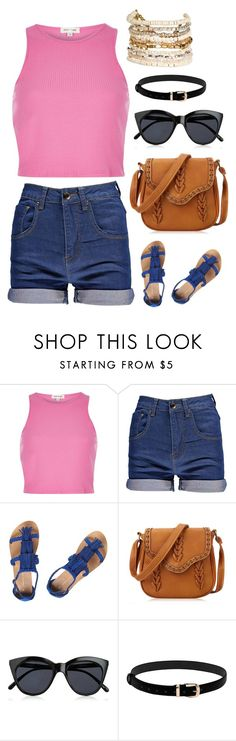 """""""Untitled #4080"""" by kaitoven on Polyvore featuring River Island, Boohoo, Dorothy Perkins, Le Specs and Panacea"""
