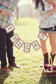 . Cute Engagement Session Idea