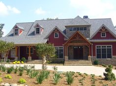 red siding with stone houses, pictures | red siding and stone..... | craftsman homes
