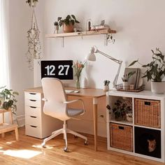 Home Office Space, Home Office Design, Home Office Decor, Interior Office, Home Desk, Study Room Decor, Room Ideas Bedroom, Bedroom Decor, Desk In Bedroom