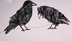 Pen art crow