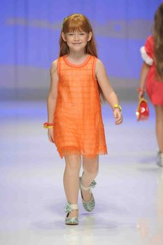 girls fun orange dress shade from Simonetta    cute ankle wraps on the shoes