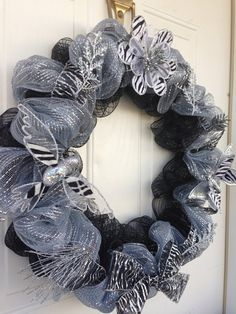 Hey, I found this really awesome Etsy listing at https://www.etsy.com/listing/163976287/18-inch-zebra-print-wreath