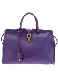 Yves Saint Laurent Leather Tote in Purple (violet)