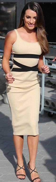 Lea Michele: Dress – David Koma  sunglasses – Westward Leaning  Shoes – Christian Louboutin