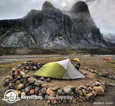 """Sweeping glaciers and polar sea ice meet jagged granite mountains in Auyuittuq National Park of Canada. Established in 1976, Auyuittuq - an Inuktitut word meaning """"land that never melts"""" - protects 19,089km 2 of glacier-scoured terrain. Located in the eastern Arctic, on southern Baffin Island, the park includes the highest peaks of the Canadian Shield, the Penny Ice Cap, marine shorelines along coastal fiords, and Akshayuk Pass, a traditional travel corridor used by the Inuit for thousands…"""