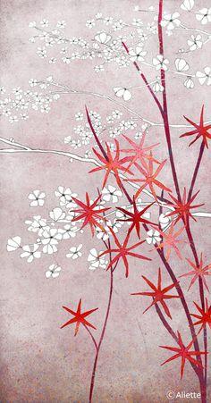 Illustration - Fine Art Print of an original illustration - floral - botanical - home decor - wall art on Etsy, £19.04