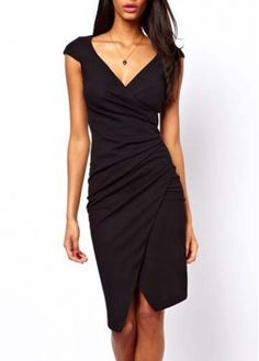Wrap Dress in Black