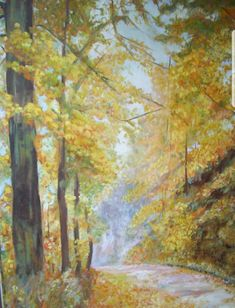 #Herbst #Wald #Ausseerland #Toplizsee #Waldweg #Kunst Etsy Seller, Painting, Painted Canvas, Forests, Places, Fall, Kunst, Painting Art, Paintings