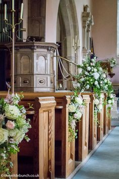 Traditional church aisle flowers Church Wedding Flowers, Aisle Flowers, Church Aisle, Theme Ideas, Big Day, Indoor Outdoor, Garland, Bride, Traditional