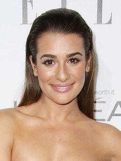 Lea Michele's Slicked Back Hair & Glowing Skin — Exact LookRevealed