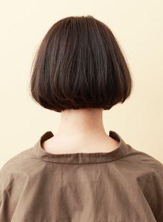 ナチュラル切りっぱなしボブ(髪型ボブ)