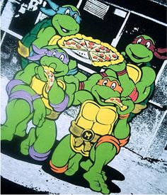 ON AUCTION NOW ~ ~ NEW Teenage Mutant Ninja Turtles Pizza Long Sleeve Tshirt Black Green L Large Mens Teen