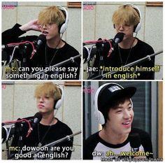 Awww Dowoon is so cute when he speaks english n_n