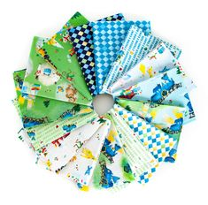 The Little Engine That Could by Jill Howarth for Riley Blake Designs Little Engine That Could, I Spy Quilt, Blue Green, Blue And White, Blue Charm, Fun Diy Crafts, Little Boy And Girl, Fabric Squares, Charm Pack
