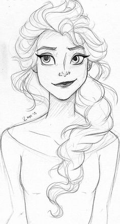 Elsa sketch I absolutely love this