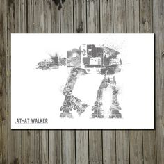 AT-AT Walker now featured on Fab. [Art print, Star Wars, Nicholas Hyde]