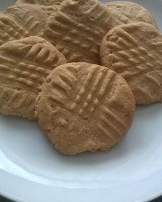 Bolachas de manteiga de Amendoim #bolachas #manteigadeamendoim #cookies #penautbutter