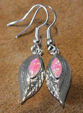 -pink-fire-opal-earrings-gemstone-silver-jewelry-modern-leaf-m78