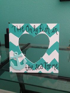 Michaels frame for $1,  2 bottles of $1 paint, and a .29 anchor! $4.00 craft! So cute and easy!