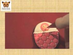 3D Cookie Decorating - Bassinette cookie favor or cake topper