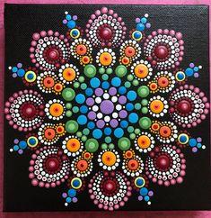 Mandala Dot Painting Ideas by Jacob Montgomery Dot Art Painting, Pebble Painting, Painting Patterns, Pebble Art, Stone Painting, Pottery Painting, Mandala Art, Mandalas Painting, Mandala Canvas
