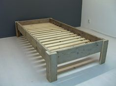 1 persoonsbed steigerhout