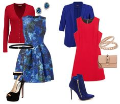 Как сочетать синий и красный цвета